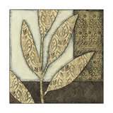 Small Neutral Leaves and Patterns I Poster by Megan Meagher