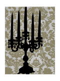 Small Candelabra Silhouette II Prints by Ethan Harper