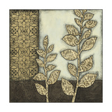 Small Neutral Leaves and Patterns II Prints by Megan Meagher