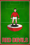 Red Devils Football Soccer Sports Poster Prints