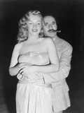 Marilyn Monroe, Groucho Marx, Love Happy, 1949 Fotografisk trykk