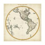 1812 Western Hemisphere Prints by  Pinkerton