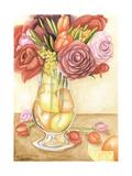 Fresh Fruit and Flowers II Premium Giclee Print