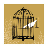 Small Birdcage Silhouette II Premium Giclee Print by Erica J. Vess
