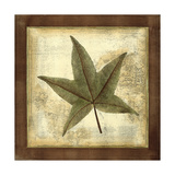 Rustic Leaves II - No Crackle Prints by  Vision Studio