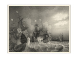 Small Ships at Sea I Premium Giclee Print