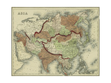 Small Antique Map of Asia Prints by Alvin Johnson