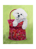 Bichon Carry-On Premium Giclee Print by Carol Dillon
