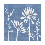Small Blue Linen IV Premium Giclee Print by Megan Meagher