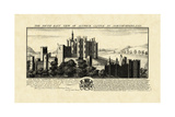 Vintage Alnwick Castle Prints by Nathaniel Buck