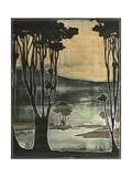 Small Nouveau Trees II Lámina giclée premium por Jennifer Goldberger