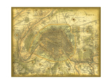 Map of Paris Giclee Print