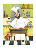 Jolly French Chef Premium Giclee Print