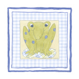 Frog with Plaid III Premium Giclee Print
