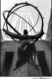 Atlas at Rockefeller Center Print by Laura Denardo