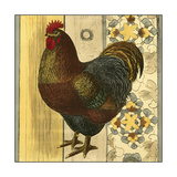 Mini Barnyard Roosters IV Premium Giclee Print by  Vision Studio