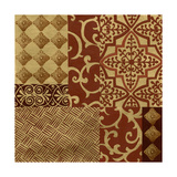 Henna Patterns on Gold I Posters by Nancy Slocum