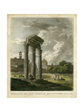 Temple of Jupiter Print by  Merigot