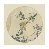 Oriental Bird Silk I Posters
