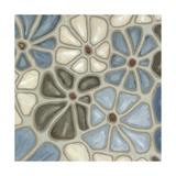 Tiled Petals II Reproduction giclée Premium par Karen Deans