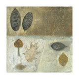 Neutral Leaves III Premium Giclee Print by Elena Ray