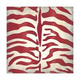 Vibrant Zebra I Lærredstryk på blindramme af Chariklia Zarris