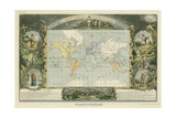 1885 Planisphere of the World Posters