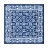 Italian Mosaic in Blue I Art by  Vision Studio