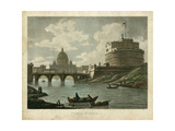 Ponte St. Angelo Poster by  Merigot