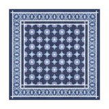 Italian Mosaic in Blue II Posters by Vision Studio
