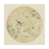 Oriental Bird Silk II Art Print