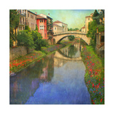 Stream Bridge Premium Giclee Print by Chris Vest
