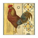 Mini Barnyard Roosters II Premium Giclee Print by  Vision Studio