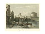 Bridge of St. Angelo, Rome Posters by  Mayor Irton