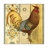 Mini Barnyard Roosters I Premium Giclee Print by  Vision Studio