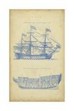 Chambers - Vintage Ship Blueprint - Reprodüksiyon