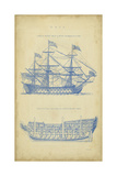 Vintage Ship Blueprint Prints by  Chambers