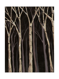 Midnight Birches I Posters af Jade Reynolds