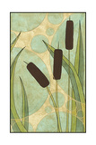 Tranquil Cattails III Print