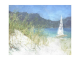 Yacht Waiting Premium Giclee Print by Noah Bay