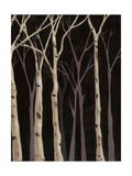 Midnight Birches II Prints by Jade Reynolds