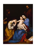 The Holy Family with Saints Anne and Catherine of Alexandria, 1648 Giclee Print by Jusepe de Ribera