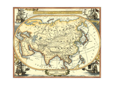 Nautical Map of Asia Prints by  Vision Studio
