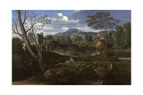 Landscape with Buildings, 1648-1650 Giclee Print by Nicolas Poussin