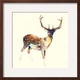 Deer Wearing Gym Socks Framed Giclee Print by Charmaine Olivia