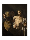 The Incredulity of Saint Thomas, 1641-1649 Giclee Print by Matthias Stom
