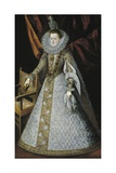 Margaret of Austria, Queen of Spain, 1606 Giclee Print by Juan Pantoja De La Cruz