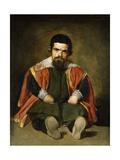 The Buffoon Sebastian De Morra, 1643-1649 Giclée-Druck von Diego Velázquez
