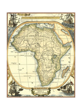 Nautical Map of Africa Poster by  Vision Studio