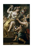 Flora, Goddess of Flowers, Ca. 1697 Giclee Print by Luca Giordano